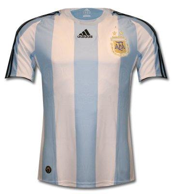 Camiseta Argentina Home 2008 Adidas, Hombre, Blanco-Azul: Amazon.es: Deportes y aire libre