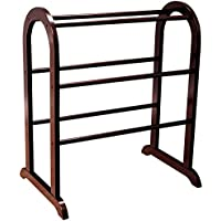 Quilt Rack in Rich Cherry Color with 5 Rails To Organize Your Quilts or Comfort and Make Your Bedroom Organized and Stored Made of Manufactured Wood