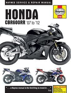 Amazon Com Haynes Repair Manual For Honda Cbr600rr 2007 2012 Automotive