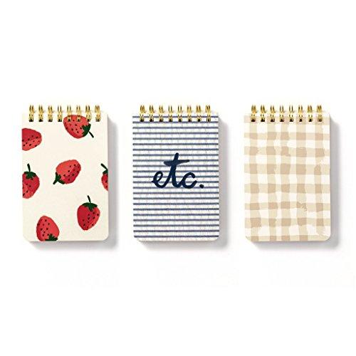 kate spade new york Spiral Notepad Set Of 3 - Strawberries