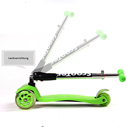 FASCOL® Twist & Roll Patinete scooter plegable para niños ...
