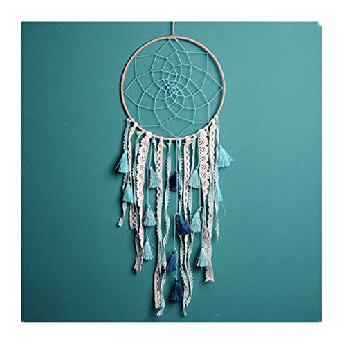 FACOCO Bedroom Bay Window Pendant Cute Dream Catcher Feather Wind Chime(Green One Size)