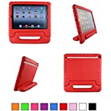 TCD for Apple iPad 2nd 3rd 4th Generation iPad Case for Kids [iPad 2 3 4] Safe Shockproof Protective Stand Foam Case Cover Stand (FREE SCREEN PROTECTOR STYLUS PEN)