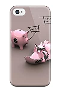For Mary Greathouse Iphone Protective Case, High Quality For Iphone 4/4s Funny Pigs Skin Case Cover