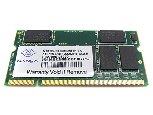 Compaq Sodimm Memory - Nanya for Compaq 256MB PC2700 333Mhz DDR CL2.5 SODIMM Memory Module for ZD NX NC NW V Series Notebooks - Refurbished - NT256D64SH8BAGM-6K