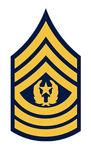 United States Army Command Sergeant Major Csm E-9 Rank Insignia Vinyl Sticker Decal