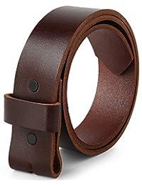 Cinturón para hebillas, 100% piel de grano superior, de una pieza, hasta talla 62, 1-1/2 pulgadas de ancho, fabricado en Estados Unidos