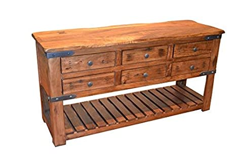 Amazoncom Rustic Solid Wood Console Table Sofa Table Sideboard