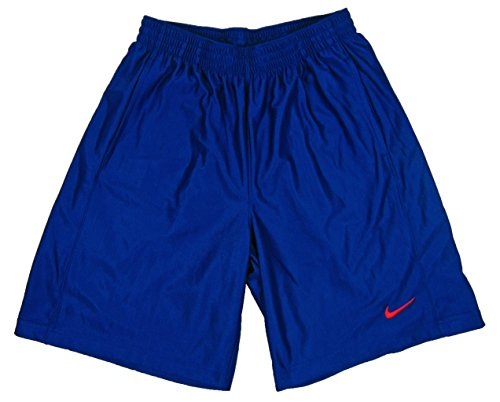 Nike Mens Perforated Elastic Waist Shorts Blue L (Nike Shorts Waist Elastic)