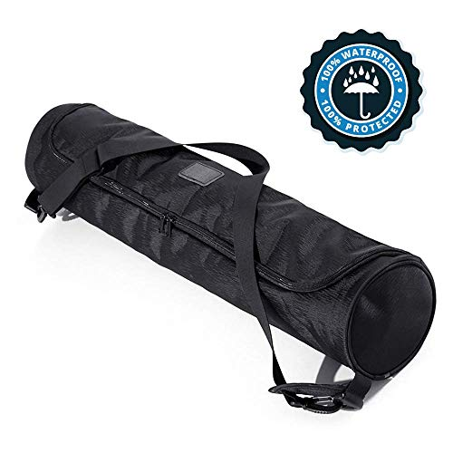 Yoga Mat Bag, Full-Zip, Waterproof Sturdy Canvas with Adjustable Shoulder Strap. Yoga Strap, Yoga Bag and Carriers, Yoga Accessories, Yoga Mat Carrier, Sling Bag, Yoga Mat Holder