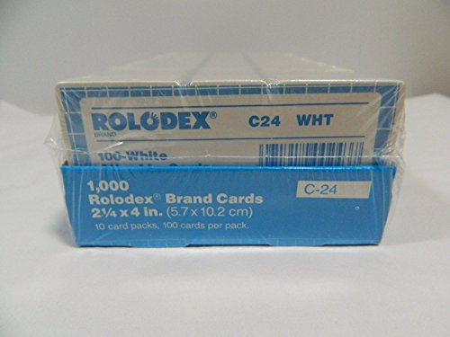 Rolodex Genuine Brand Cards 1000ct. C-24 21/4X4