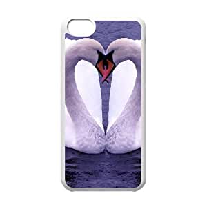 iPhone 5c Cell Phone Case White Swan K2320449