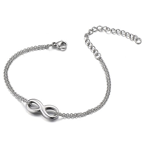 Stainless Double Anklet Bracelet Infinity
