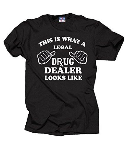 Milky Way Tshirts Pharmacist T-Shirt Legal Drug Dealer Funny Pharmacy Tee Shirt Medium Black