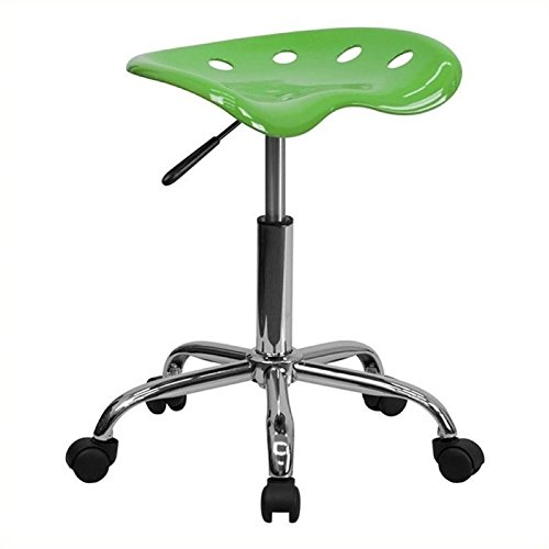 Scranton and Co Adjustable Chrome Stool in Lime