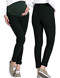 Sweet Mommy Fleece Lined Stretchy Maternity Skinny Pants
