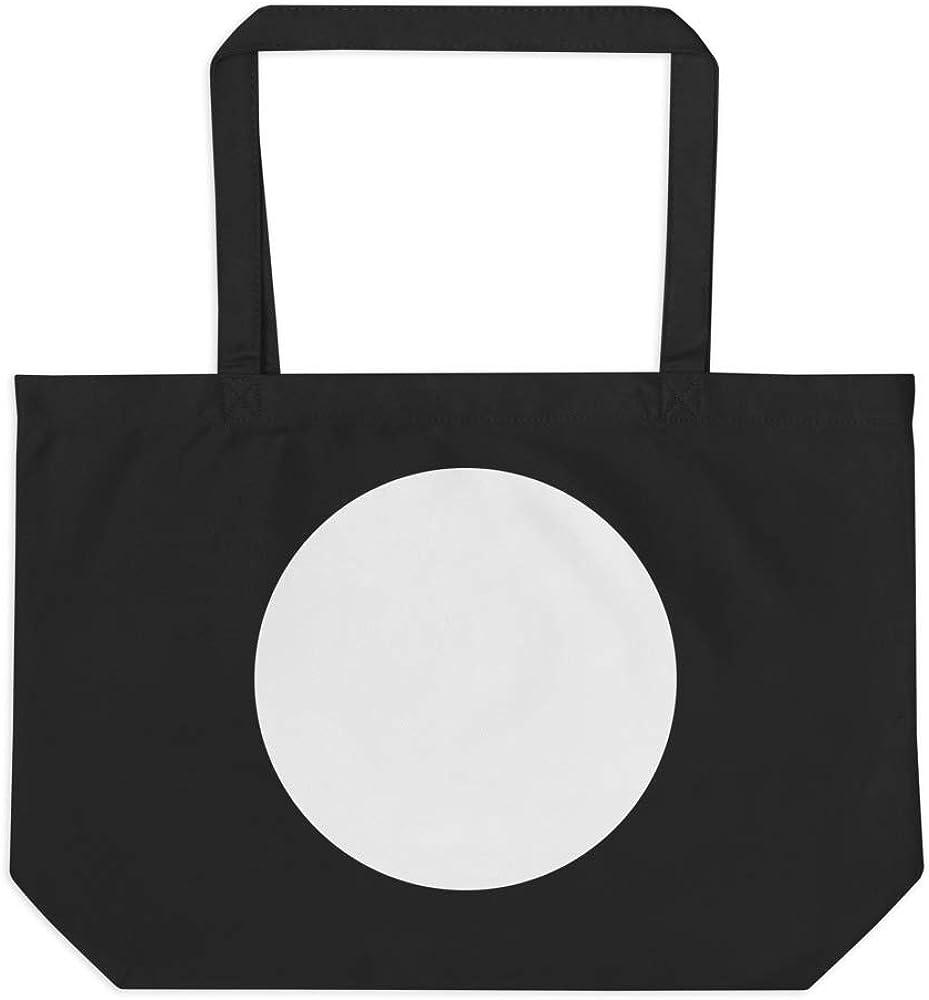 Zen Dot Eco 100/% certified organic cotton 3//1 twill Large organic tote bag