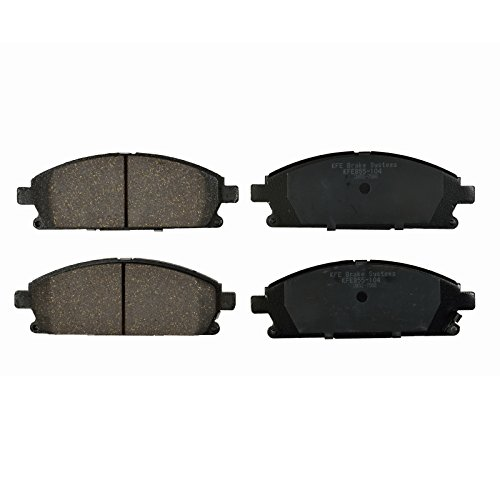 Pathfinder Brake Nissan (KFE Ultra Quiet Advanced KFE855-104 Premium Ceramic FRONT Brake Pad Set)