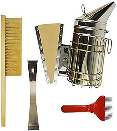 Edelstahl Bienenstockwerkzeug und Bienenbürste