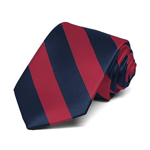 TieMart Boys Crimson Navy Striped product image