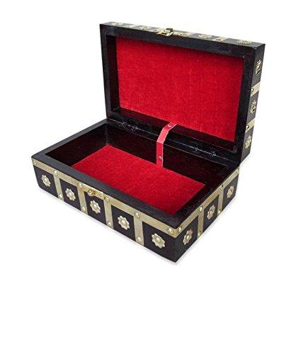 D Core Crafts Wooden Women Makeup Box Vanity Wedding Jewellery