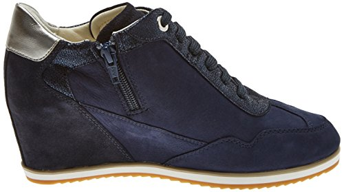 Geox Women's D Illusion B Trainers, Navy Blue (Navy C4002)