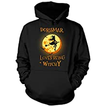 Dorismar Loves Being Witchy. Halloween Gift - Hoodie