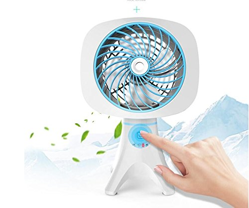 Sykdybz Desktop Mini Fan Cooling And Humidifying Electric Fan, Student Dormitory Spray Refrigerator,Blue by Sykdybz