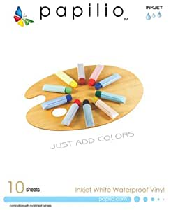 Papilio Inkjet White Waterproof Vinyl - 10 Sheets