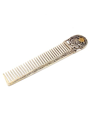 Silver Hair comb with Zodiac Horoscope Astrology Sign ''Leo'' by Sribnyk - Gallery of Silver Art