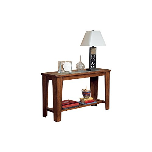 Ashley Furniture Square End Table Alymere Rustic Brown: Amazon.com: Ashley Furniture Signature Design