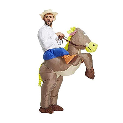 Inflatable Rider Horse Costume Fancy Dress Funny Horse