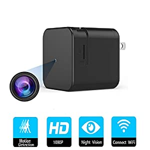 Spy Camera, Hidden Camera in USB Phone Charger 1080P HD Mini Wireless Video Recorder Secret Surveillance Camera for Home Security with Audio and Night Vision