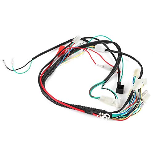 Aramox Wiring Harness, Motorcycle Accessory Electrical Starting Wiring Harness 50cc 70cc 90cc 110cc 125cc: