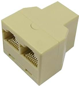 Cablematic - Duplicador de 1 RJ45 hembra a 2 RJ45 hembra