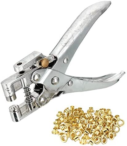 Quick Change Adjustable 6 Inch Pliers Steel Fabric Canvas Repair Tool Kits Eyelet Grommet Setter Hole Punch,strength and durability