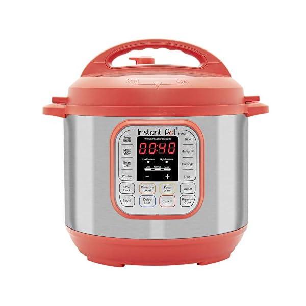 Instant Pot IP-DUO60RED Pressure Cooker, 6 quart, Red (Renewed) 2