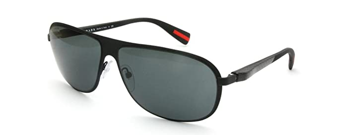 50aeb543fc Image Unavailable. Image not available for. Color  Prada Sunglasses SPS 56O  Black ...