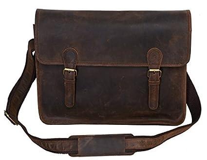 116085ec0a8b Amazon.com  KomalC 15.5 Inch Retro Buffalo Hunter Leather Best ...