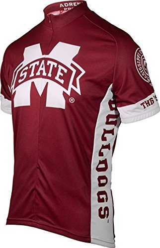 Mississippi State Bulldogs Short Sleeve Cycling Jersey - Medium (40-42 (Mississippi Cycling Jersey)