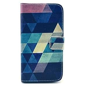 Mini - Classical Multicolor Geometric Figure Pattern PU Leather Full Body Case for Samsung S4 I9500