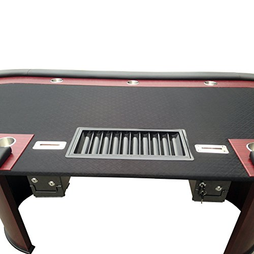 Ids vendor professional solid wood poker table 10 players for 10 player poker table top