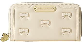 Betsey Johnson Little Bow Chic Zip Around Wallet - Cream