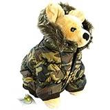 Pet Life DPF00014 Metallic Ski Parka Dog Coats with Removable Hood, Medium, Camouflage, My Pet Supplies