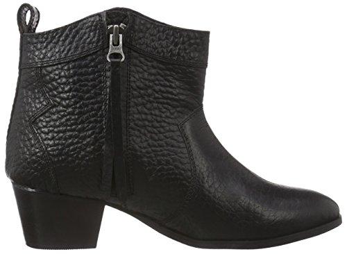 Black Lily Muse Boot, Women's Biker Boots Black - Black
