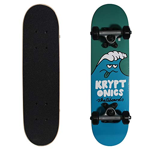 Kryptonics Locker Board 22 Inch Complete Skateboard - Wacky Wave ()