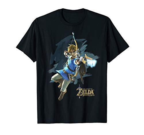 Legend Of Zelda Breath Of The Wild Link Archer Jump Shot C1  T-Shirt