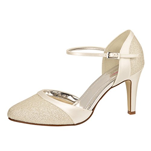 Ivoire Brillant Mariée Caroline Shoes Chaussures Club Rainbow Elsa Strass Coloured De qUAwx7v