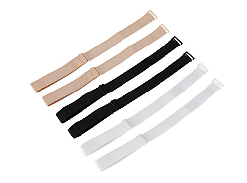 - 6 Piece Bra Strap Clips Conceal Straps Cleavage Control