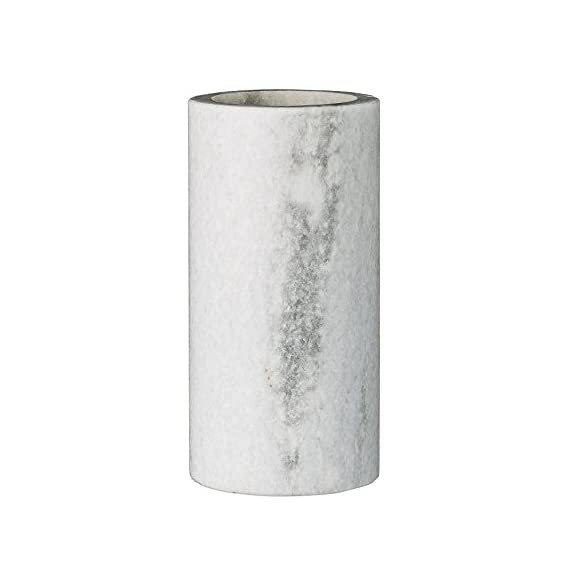 Bloomingville White & Grey Marble Vase - Marble construction Includes 1 vase Wipe clean with a dry cloth - vases, kitchen-dining-room-decor, kitchen-dining-room - 418laI 0f0L. SS570  -